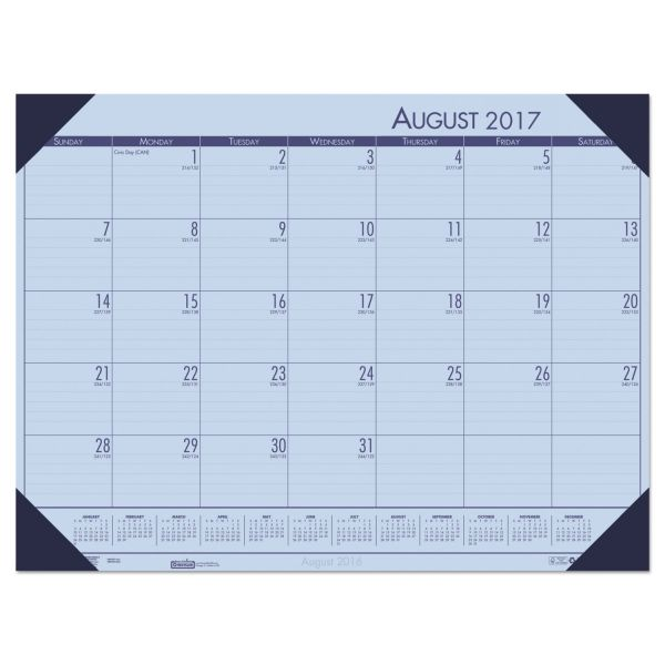 House of Doolittle EcoTones Monthly Academic Desk Pad Calendar