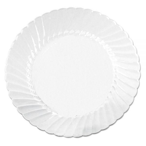 WNA Classicware Plates, Plastic, 10.25 in, Clear, 12/Bag, 12 Bag/Carton