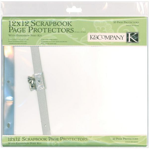 "Post Bound Page Protectors 12""X12"" 10/Pkg"