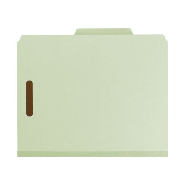 Smead Gray-Green Pressboard Classification Folders