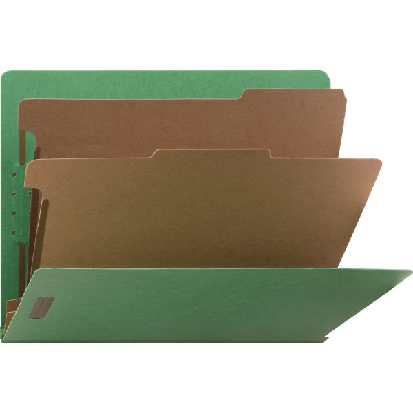 Nature Saver End Tab Green Classification Folders