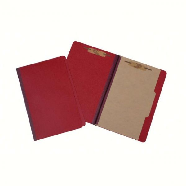 SKILCRAFT Red Colored Pressboard Classification Folders