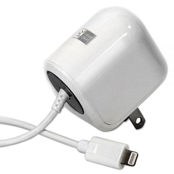 Case Logic Dedicated Lightning Home Charger, 2.1 Amp, White
