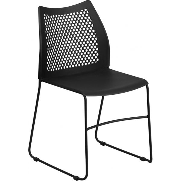 Flash Furniture HERCULES Series Big & Tall Sled Base Stacking Chair with Air-Vent Back