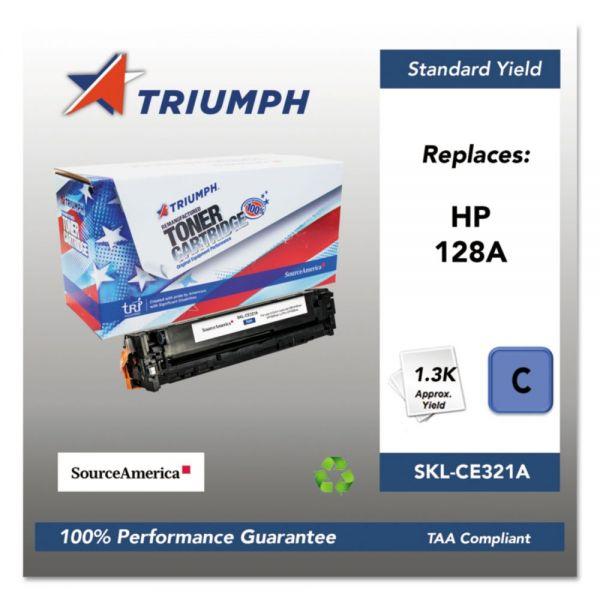 Triumph 751000NSH1110 Remanufactured CE321A (128A) Toner, Cyan