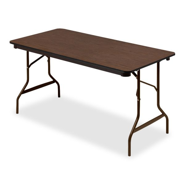 Iceberg Economy Wood Laminate Rectangular Folding Table