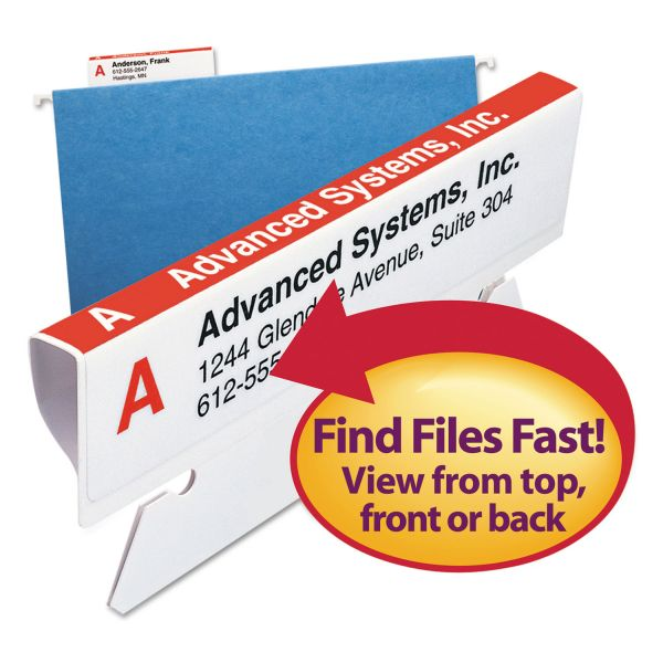 Smead Viewables Hanging Folder Tabs and Labels, Refill, 3 1/2 Inch, Assorted, 100/Pack