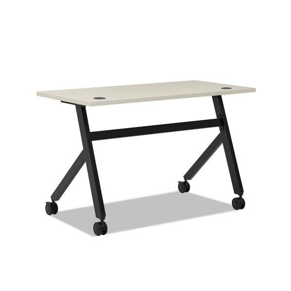 HON Multipurpose Table Fixed Base Table, 48w x 24d x 29 3/8h, Light Gray