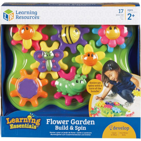 Learning Resources Jr Gears Flower Garden Building Set