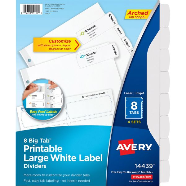 Avery Easy Peel Big Tab Index Dividers