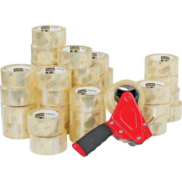 Scotch Packing Tape with Pistol Grip Dispenser