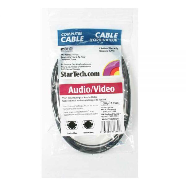 StarTech.com Digital SPDIF audio cable (optical) - TOSLINK (M) - TOSLINK (M) - fiber optic - 10 ft