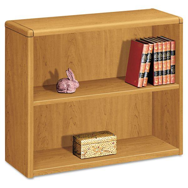 HON 10700 Series 2-Shelf Laminate Bookcase