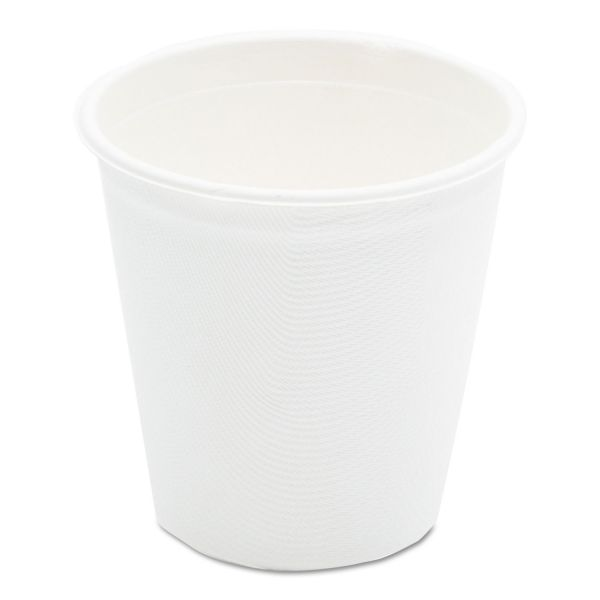 NatureHouse Compostable Sugarcane Bagasse Hot Cups, 12oz, White, 50/Pack