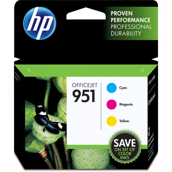 HP 951 Combo Pack Assorted Color Ink Cartridges (CR314FN)
