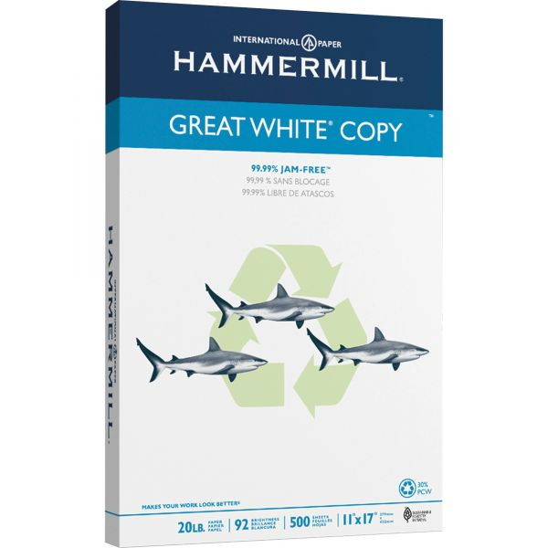 "Hammermill Great White Copy White 11"" x 17"" Copy Paper"
