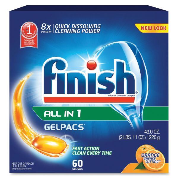 Finish All-In-One Dishwasher Soap Gelpacs