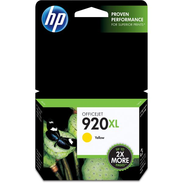 HP 920XL High Yield Yellow Ink Cartridge (CD974AN)