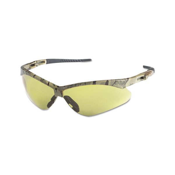 Jackson Safety* Nemesis Safety Glasses, Camo Frame, Amber Anti-Fog Lens