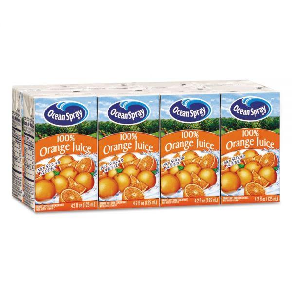Ocean Spray Aseptic Juice Boxes, 100% Orange, 4.2oz, 40/Carton
