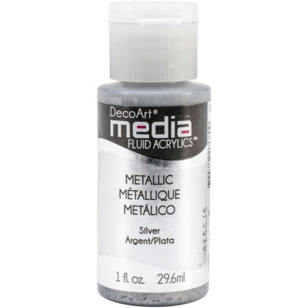 Deco Art Silver Media Fluid Acrylic