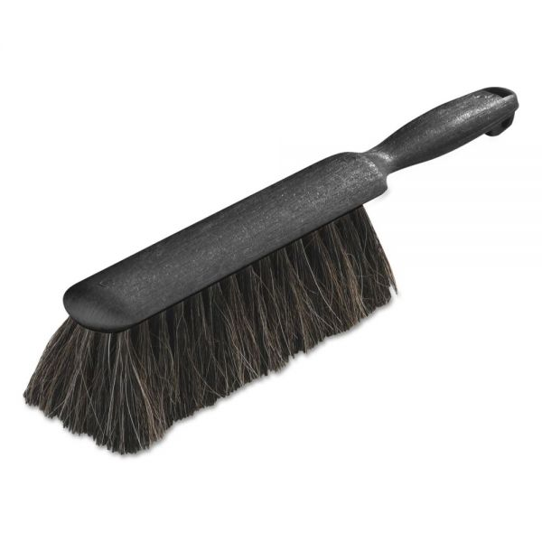 "Carlisle Counter/Radiator Brush, Horsehair Blend, 8"" Brush, 5"" Handle, Black, 12/Carton"