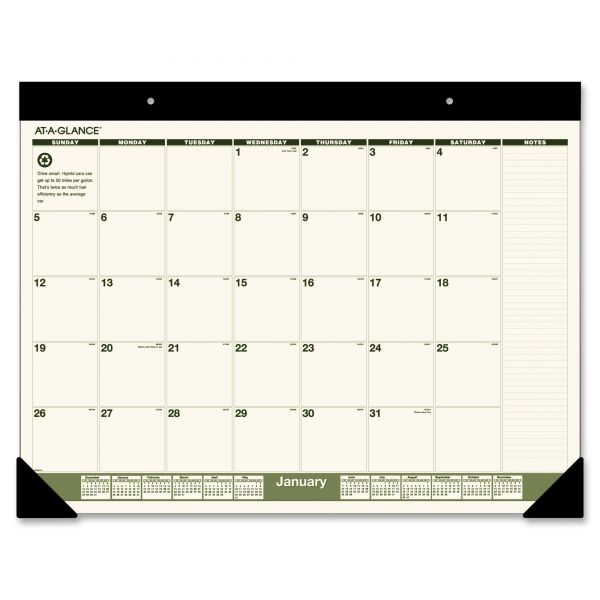 At-A-Glance Monthly Desk Pad Calendar