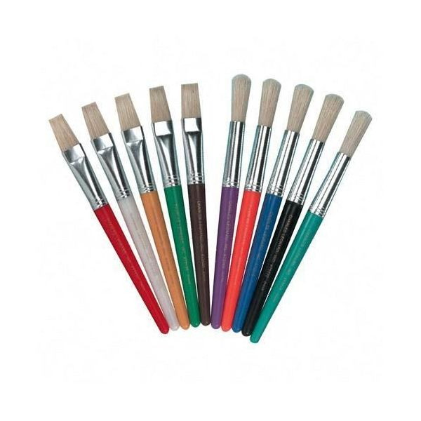 CLI Bright Colored Flat Stubby Brushes