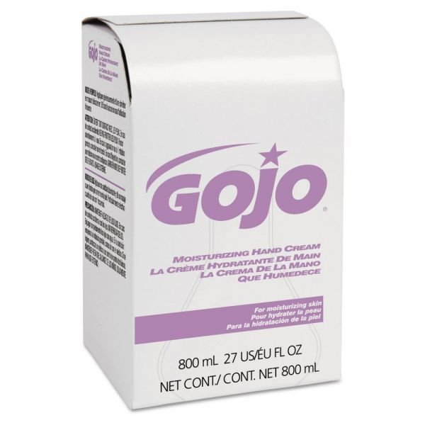 GOJO Moisturizing Hand Cream, Bag-in-Box 800 ml Refill, Floral Scent