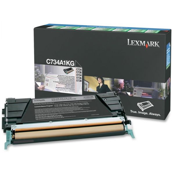 Lexmark C734A1KG Black Return Program Toner Cartridge
