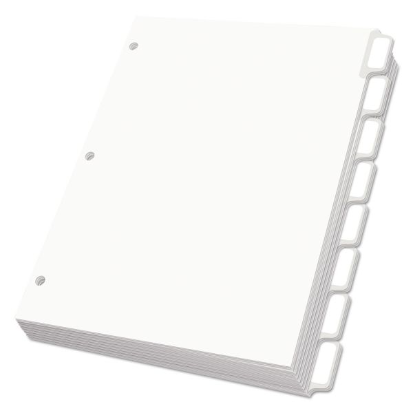 Oxford Custom 8-Tab Dividers With Self-Stick Tab Labels