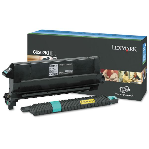 Lexmark C9202KH Black Toner Cartridge with Oil Coating Roller