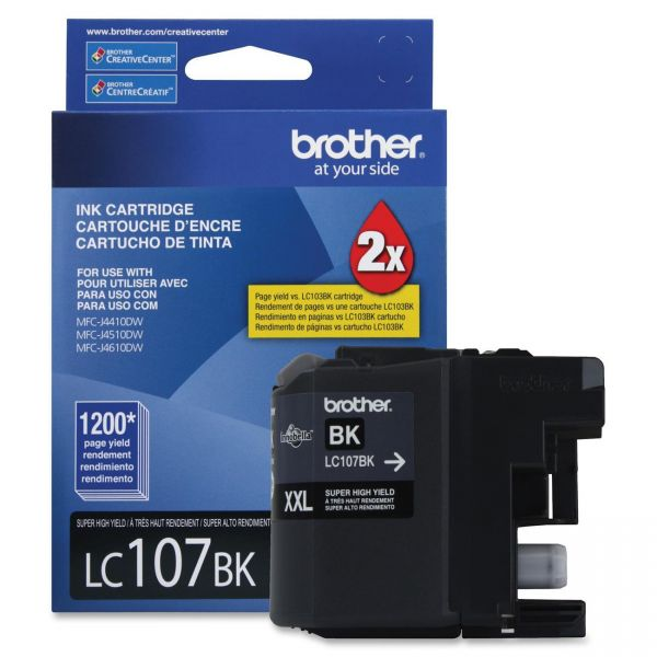 Brother LC107BK Black Super High Yield Ink Cartridge