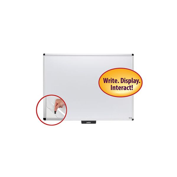 "Justick 48"" x 36"" Dry Erase Whiteboard with Clear Overlay"