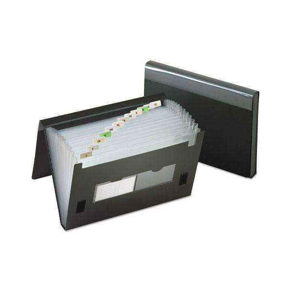 Pendaflex 13-Pocket File, Poly, Letter, Black