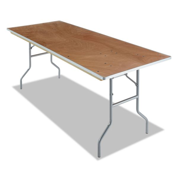 Iceberg Banquet Folding Table, Rectangular, 30w x 96d, Natural