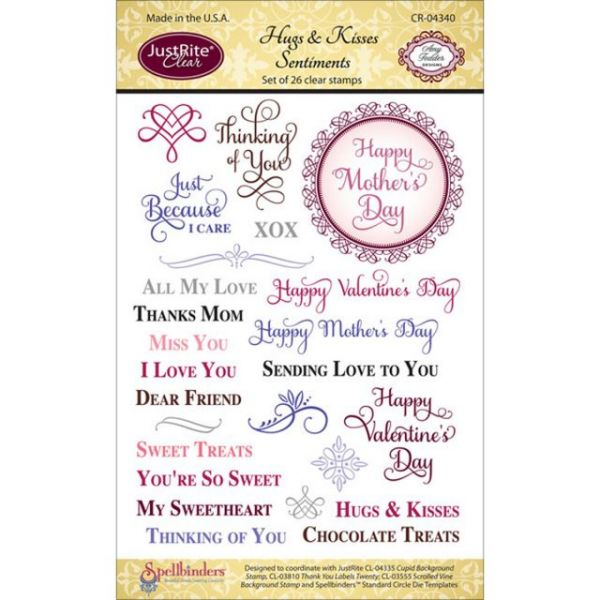 "JustRite Papercraft Clear Stamp Set 4""X6"""