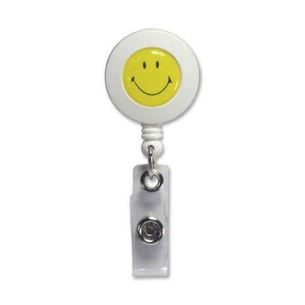 SICURIX Smiley Face Clip ID Card Reel