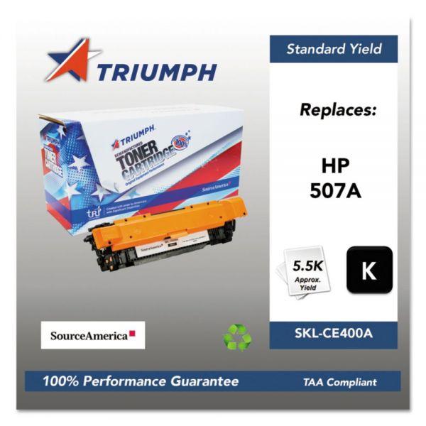 Triumph Remanufactured HP 507A (CE400A) Toner Cartridge
