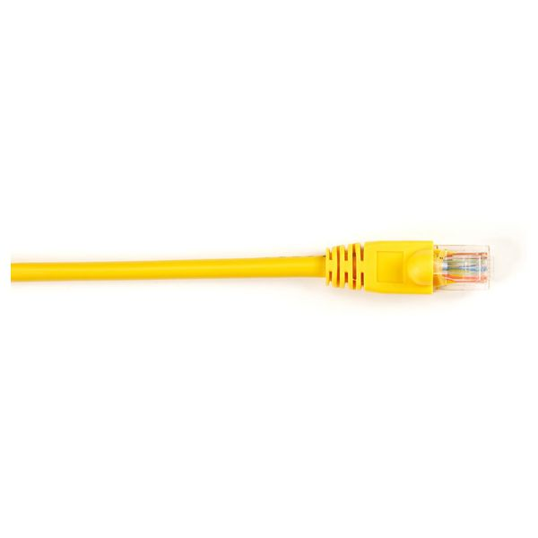 Black Box CAT5e Value Line Patch Cable, Stranded, Yellow, 5-ft. (1.5-m)
