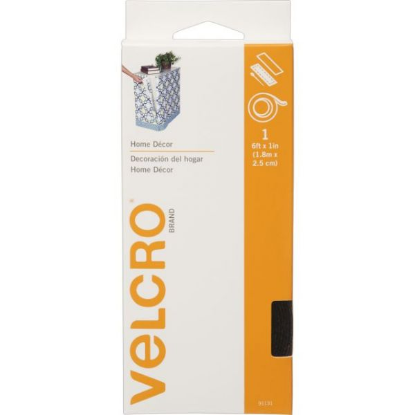 "VELCRO(R) Brand Home Decor Sew-On & Sticky Back Tape 1""X6'"