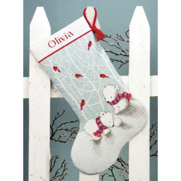 Snow Bears Stocking Counted Cross Stitch Kit