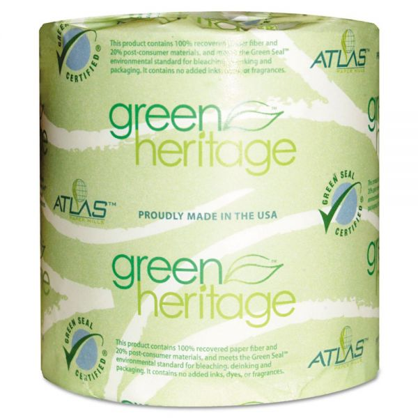 Green Heritage Individually Wrapped 1 Ply Toilet Paper