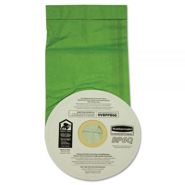 Rubbermaid Commercial Vacuum Bags, Disposable, For Rubbermaid Commercial Backpack Vacuums, 10/Pack