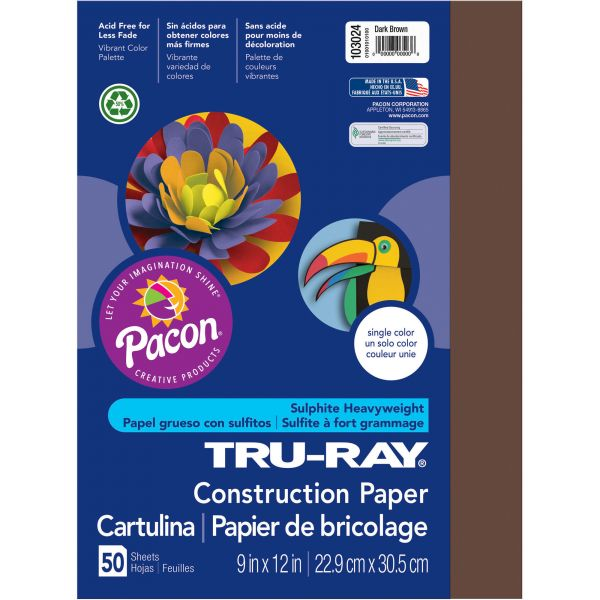 Tru-Ray Brown Construction Paper