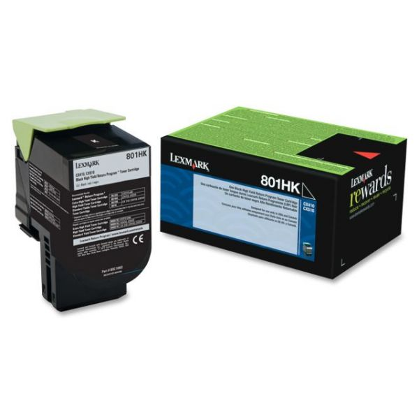 Lexmark 801HK Black High Yield Return Program Toner Cartridge (80C1HK0)