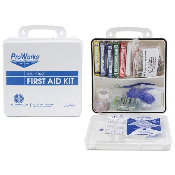 HOSPECO ProWorks First Aid Kit, 50 Person, 290 Pieces, 9 3/4 in x 14 in x 2 3/4 in