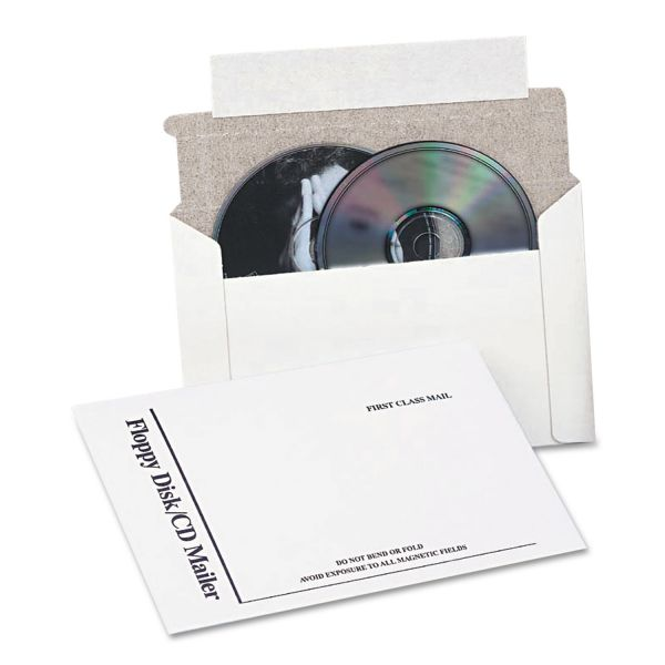 Quality Park Foam Lined Disk/CD Flat Mailers