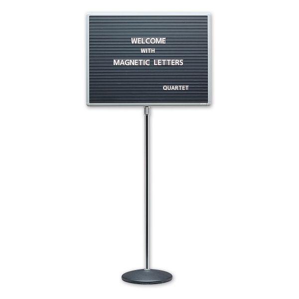 Quartet Adjustable Single Pedestal Letter Boards