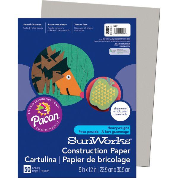 SunWorks Groundwood Gray Construction Paper